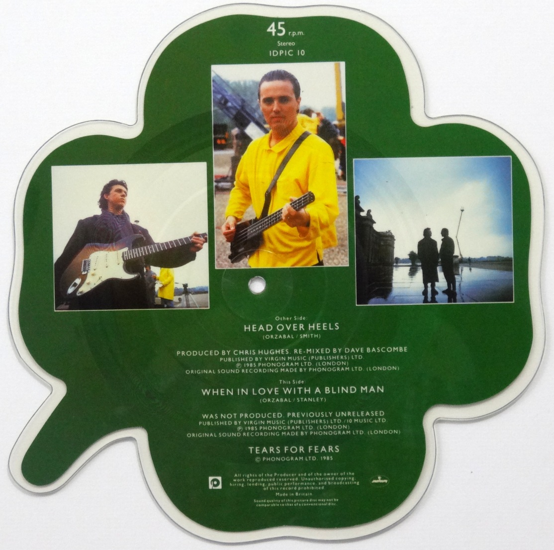 Tears For Fears Head Over Heels Picture Disc Back