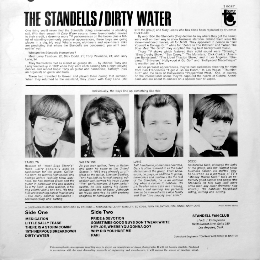Standells Dirty Water Rear