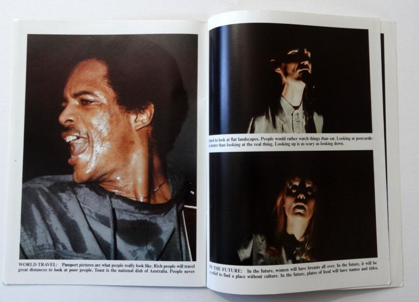 Talking Heads Stop Making Sense booklet