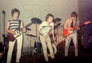 The Members circa 1978 at the legendary SO36 club in Hamburg.  JC's on the right with the red Fender.