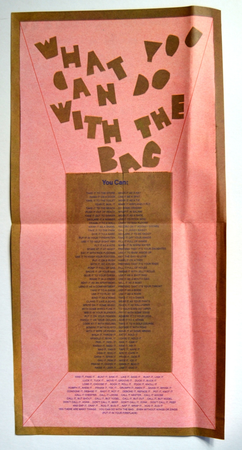 Jefferson Airplane Bark lyric sheet rear