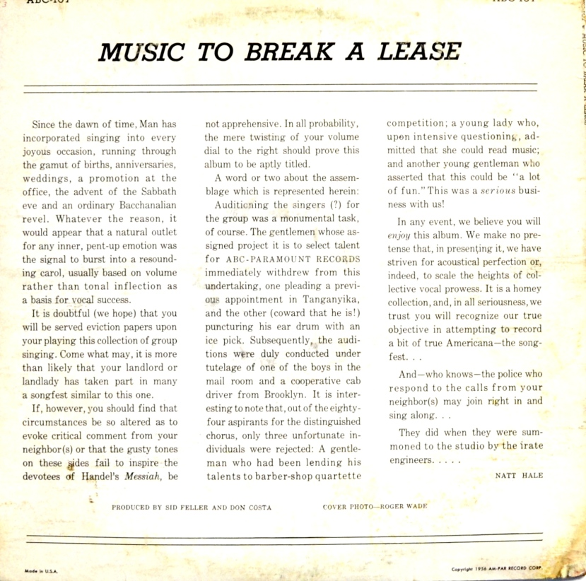 Music to Break a Lease back