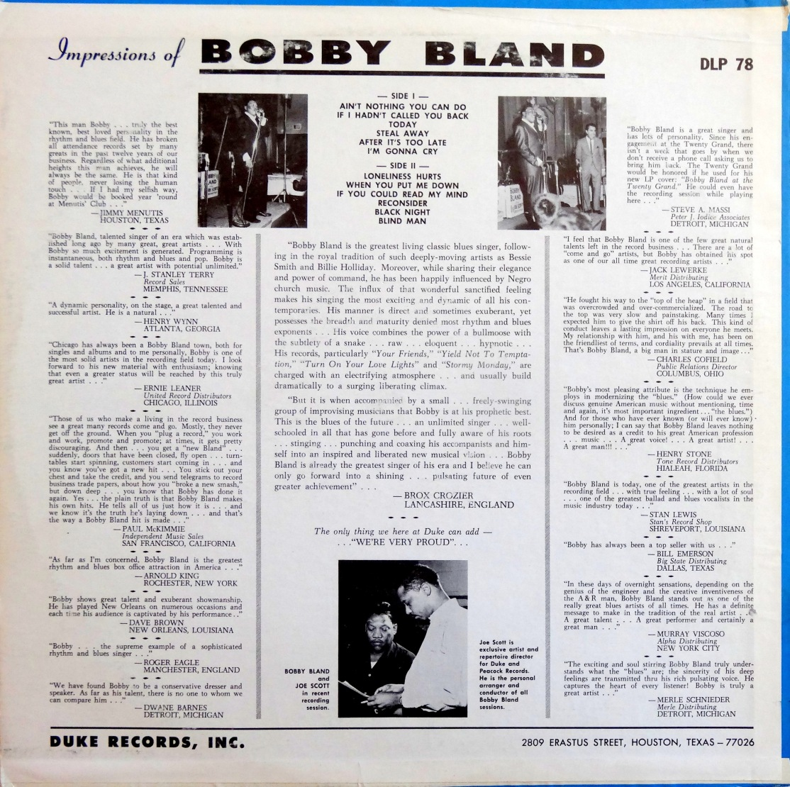 Bobby Bland - Ain't Nothing back