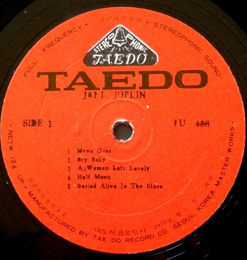 Janis Joplin Pearl Taedo label
