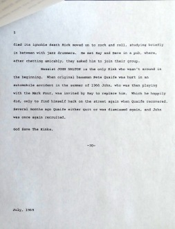 Kinks Arthur Press Kit bio 5