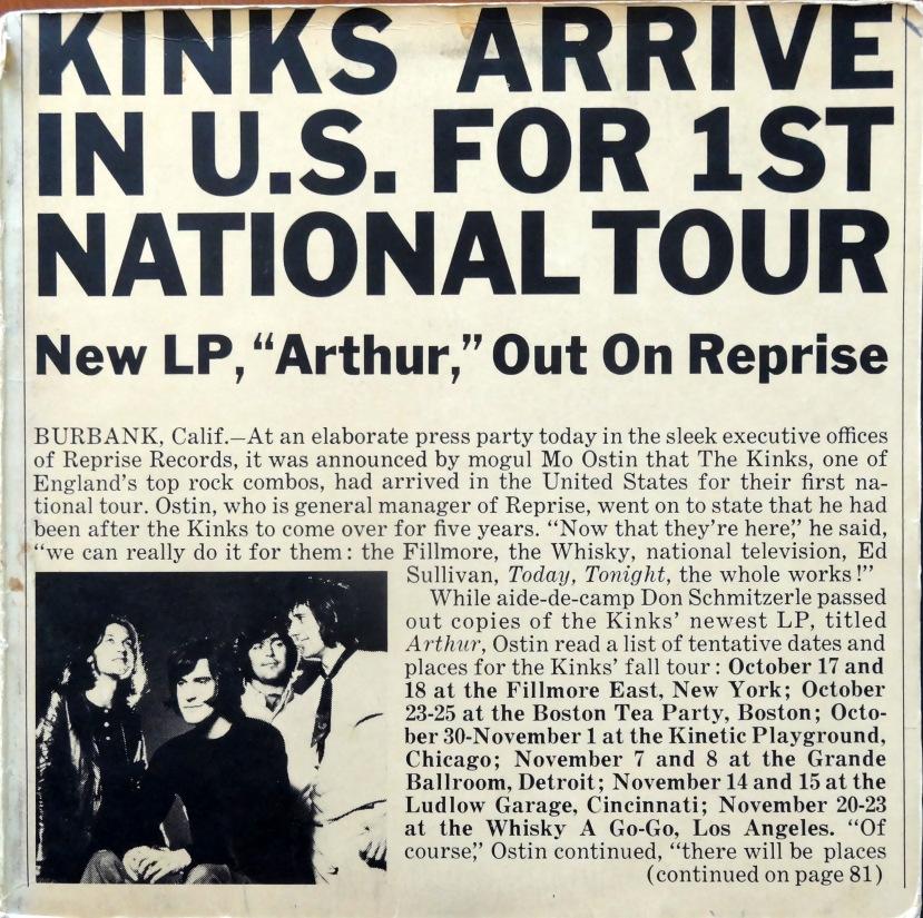 Kinks Arthur Press Kit front