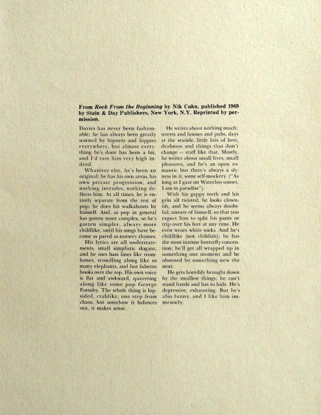 Kinks Arthur Press Kit insert 7
