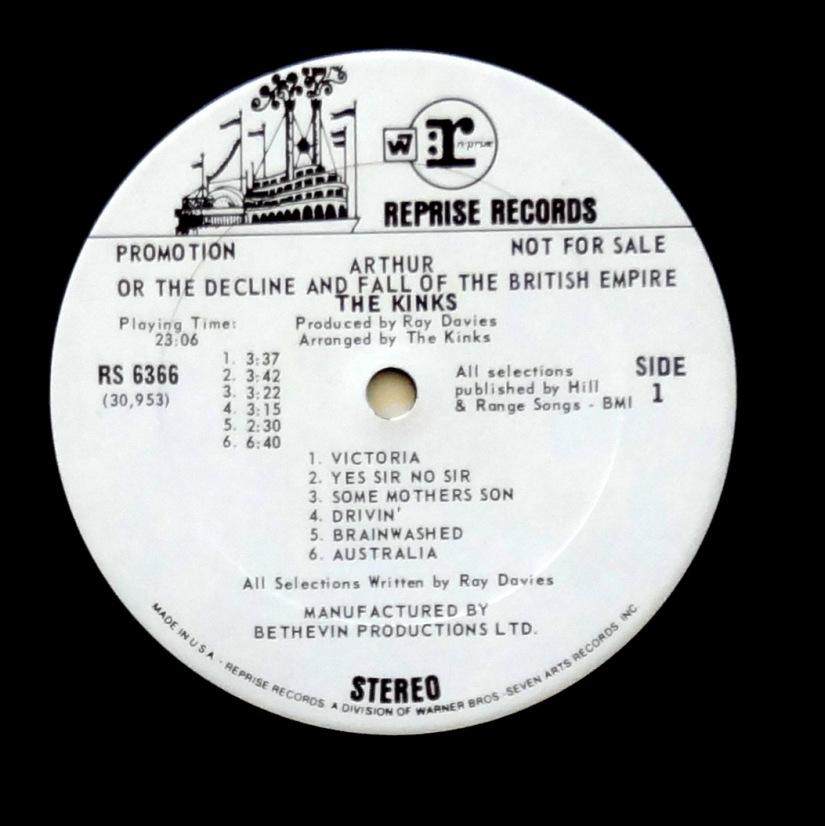 Kinks Arthur white label promo