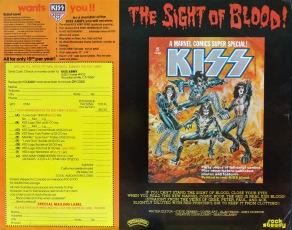 KISS Love Gun insert front