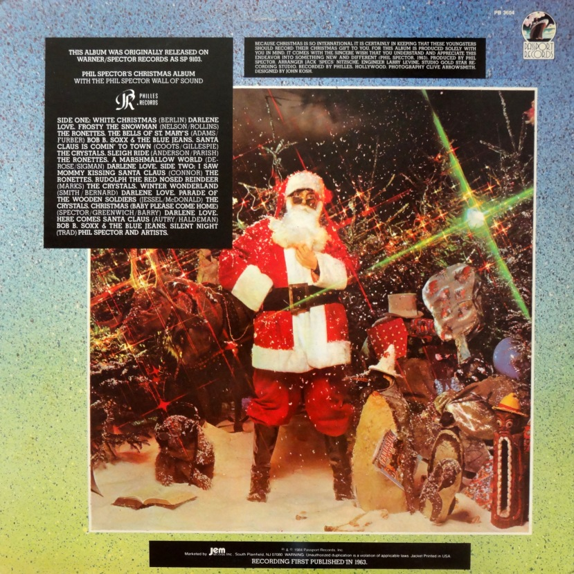Phil Spector Christmas Album back