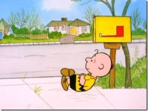Charlie Brown sitting by the mailbox_thumb