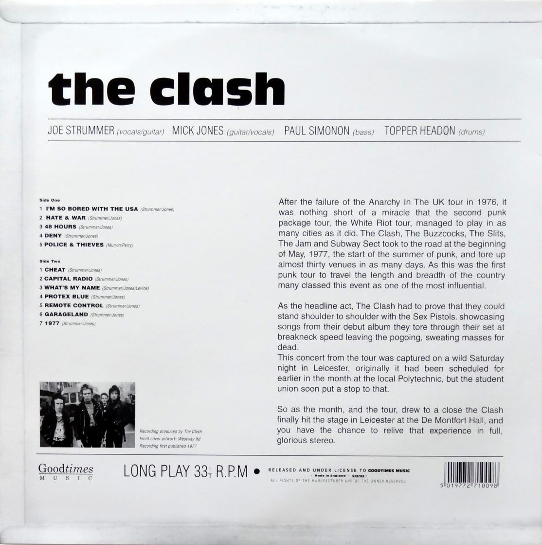 Clash White Riot Tour back