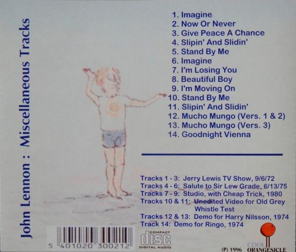Lennon Misc Tracks back