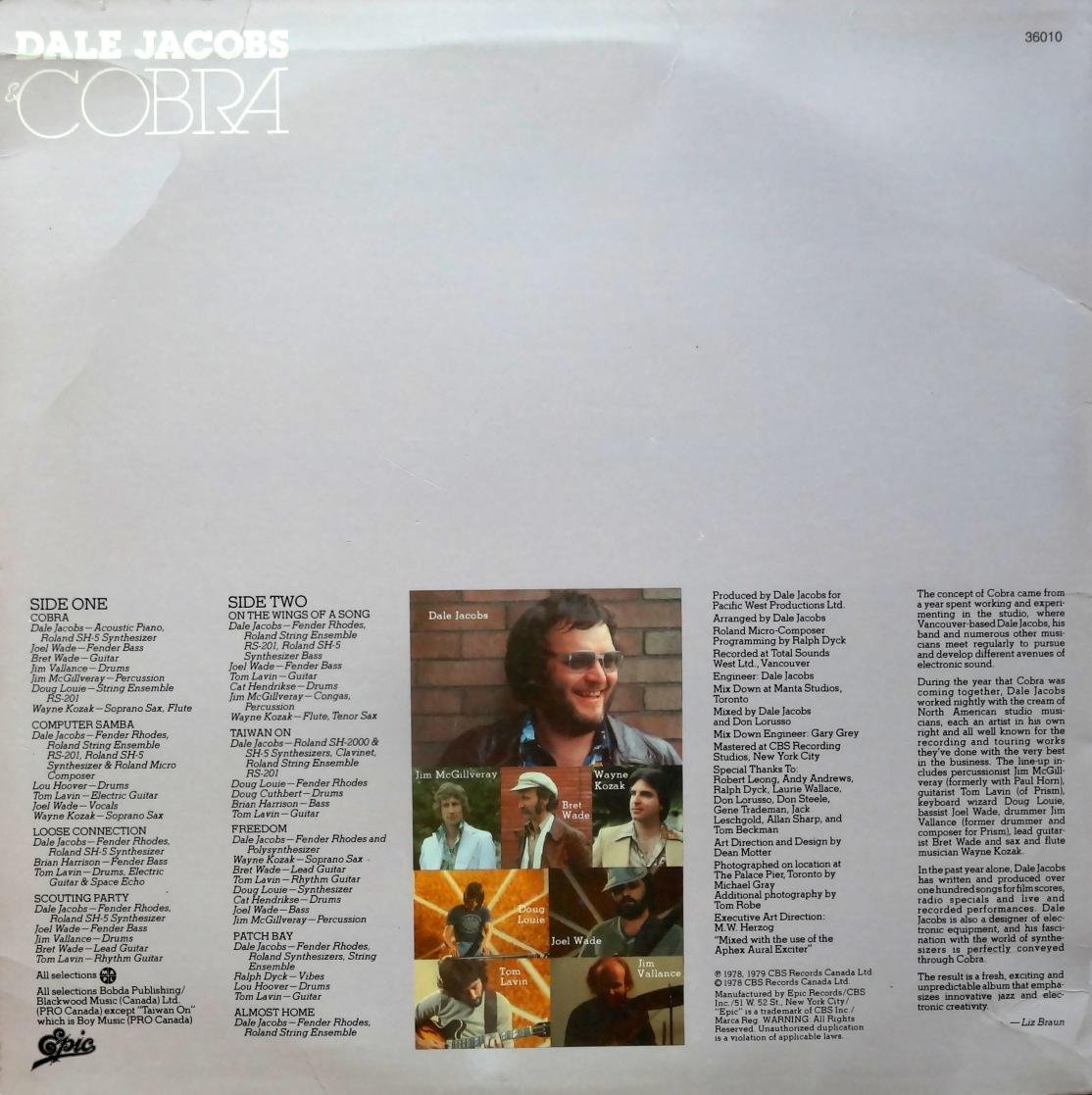 Dale Jacobs & Cobra Back