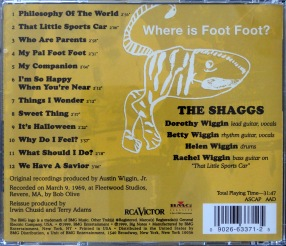 Shagg Philosophy CD back