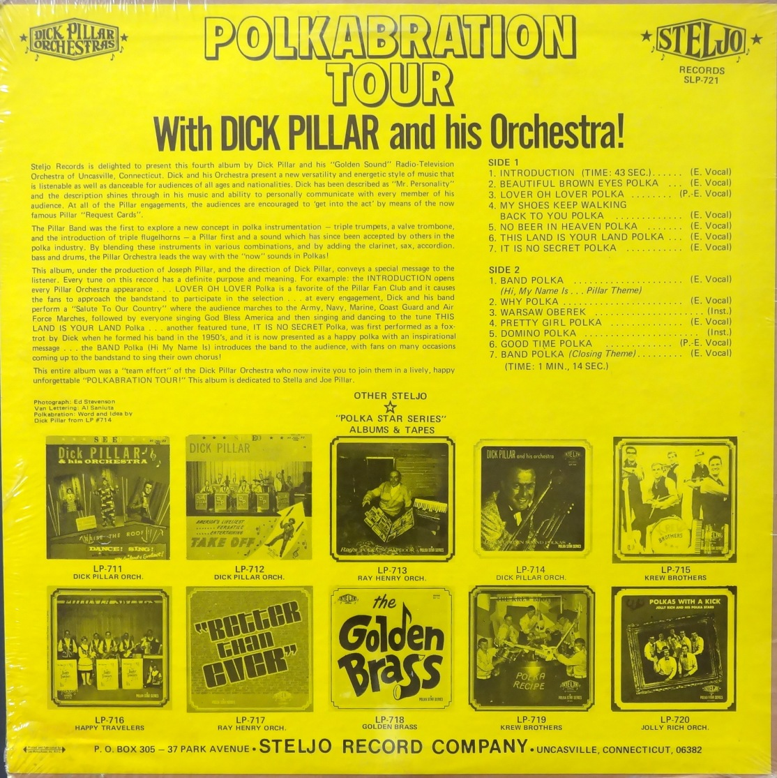 Dick Pillar Polkabration Tour back