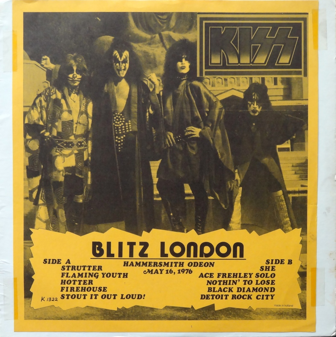 KISS Blitz London front