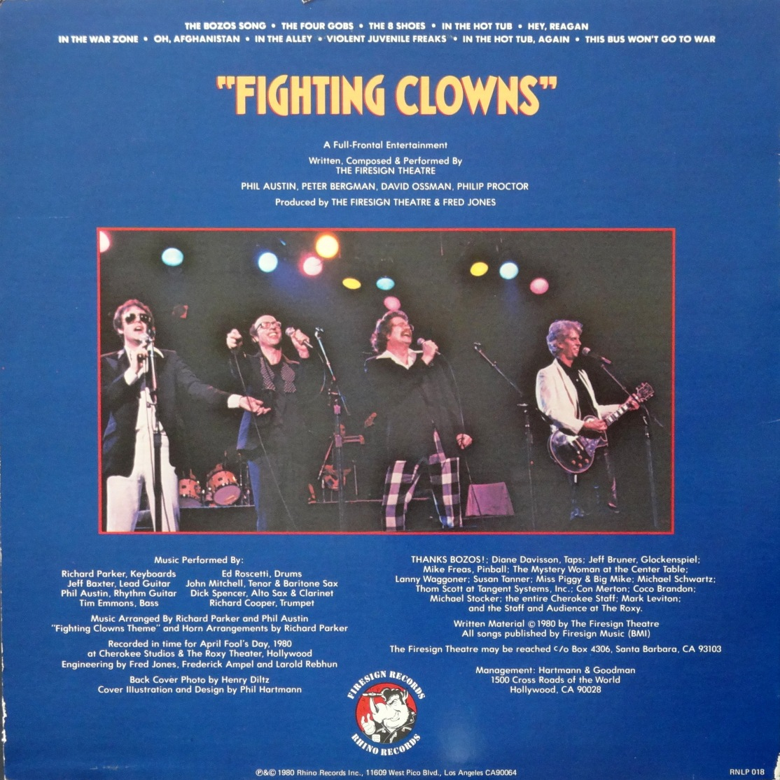 Firesign Theater Fighting Clowns back
