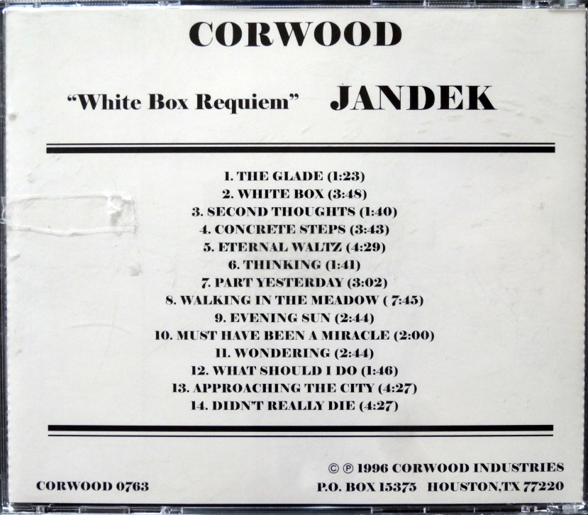 Jandek White Box Requiem back