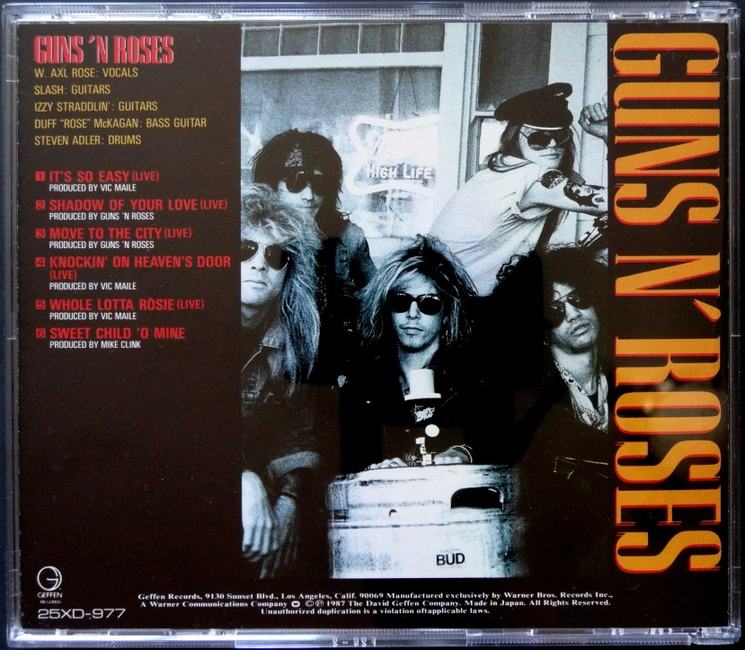 Guns N' Roses Live From the Jungle back