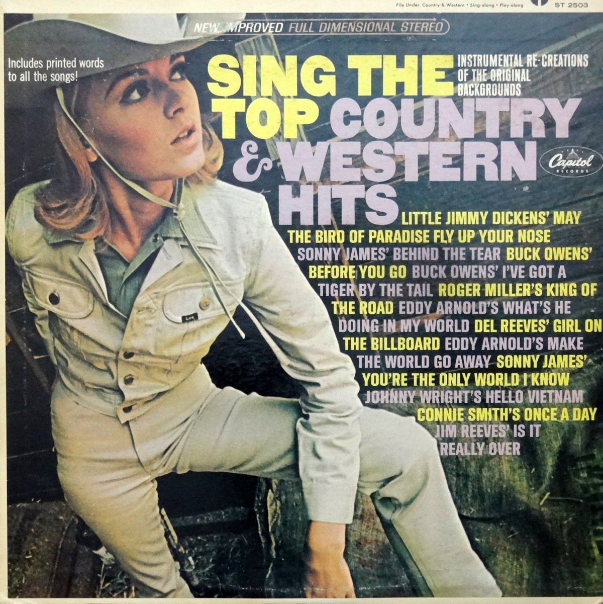 Cheesecake Cover of the Week: 'Sing the Top Country and Western Hits'