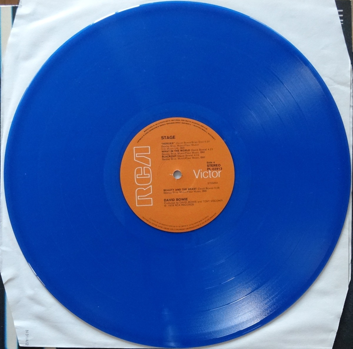 From The Stacks: David Bowie, 'Stage' (blue vinyl)