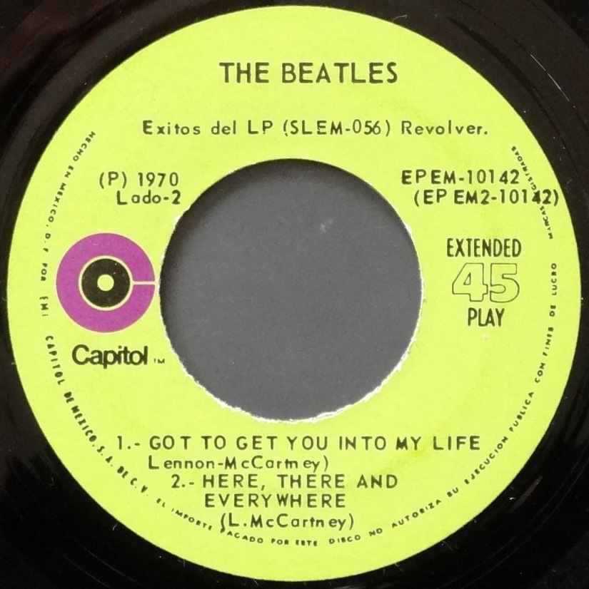 Beatles Revolver Mexican EP 4