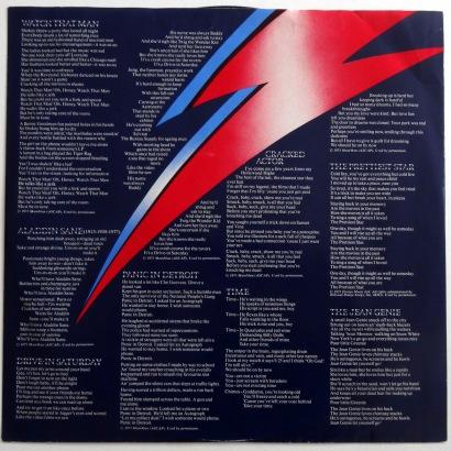 Bowie Aladdin Sane inner sleeve 1