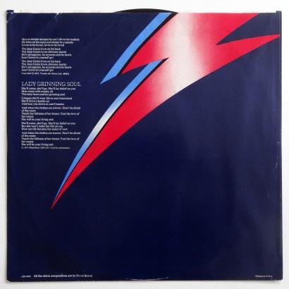 Bowie Aladdin Sane inner sleeve 2