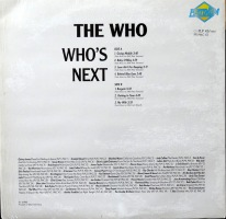 The Who Whos Next back