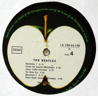 Beatles White Album German label