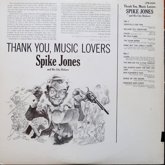 Spike Jones Thank You Music Lovers back