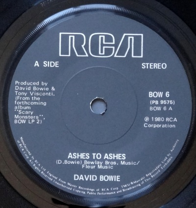 Bowie Ashes to Ashes c